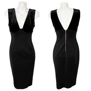 Calvin Klein Semi Velvet Bodycon Sleeveless Dress